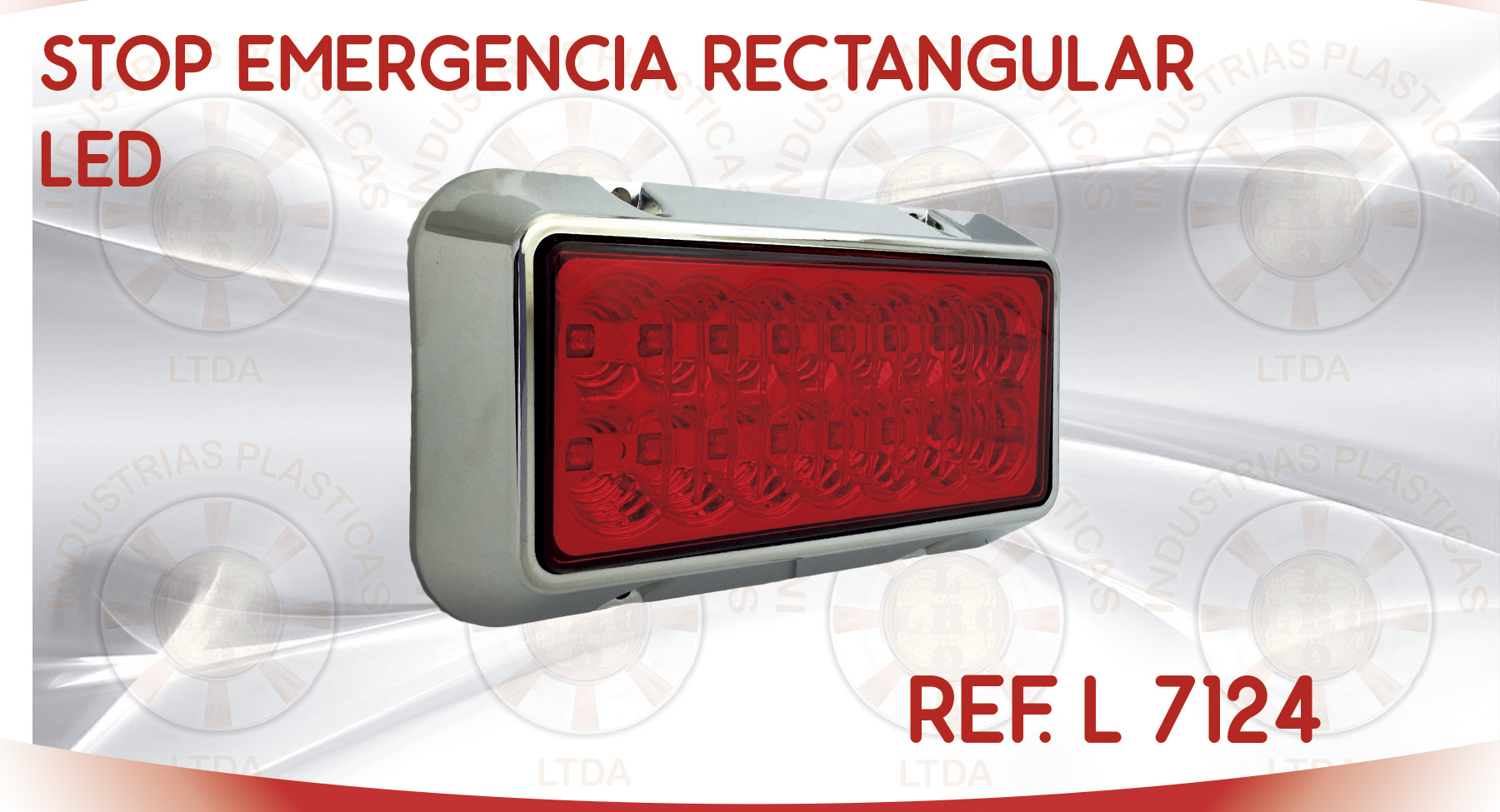 L 7124 STOP EMERGENCIA RECTANGULAR LED