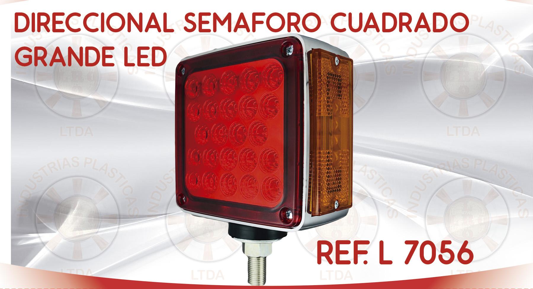 L 7156 DIRECCIONAL SEMAFORO CUADRADO GRANDE LED