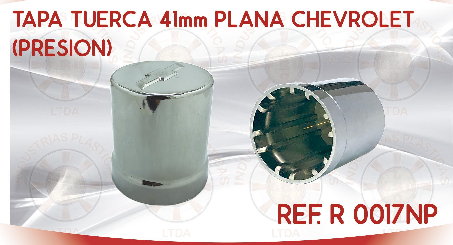 R 0017NP TAPA TUERCA 41mm PLANA CHEVROLET PRESION
