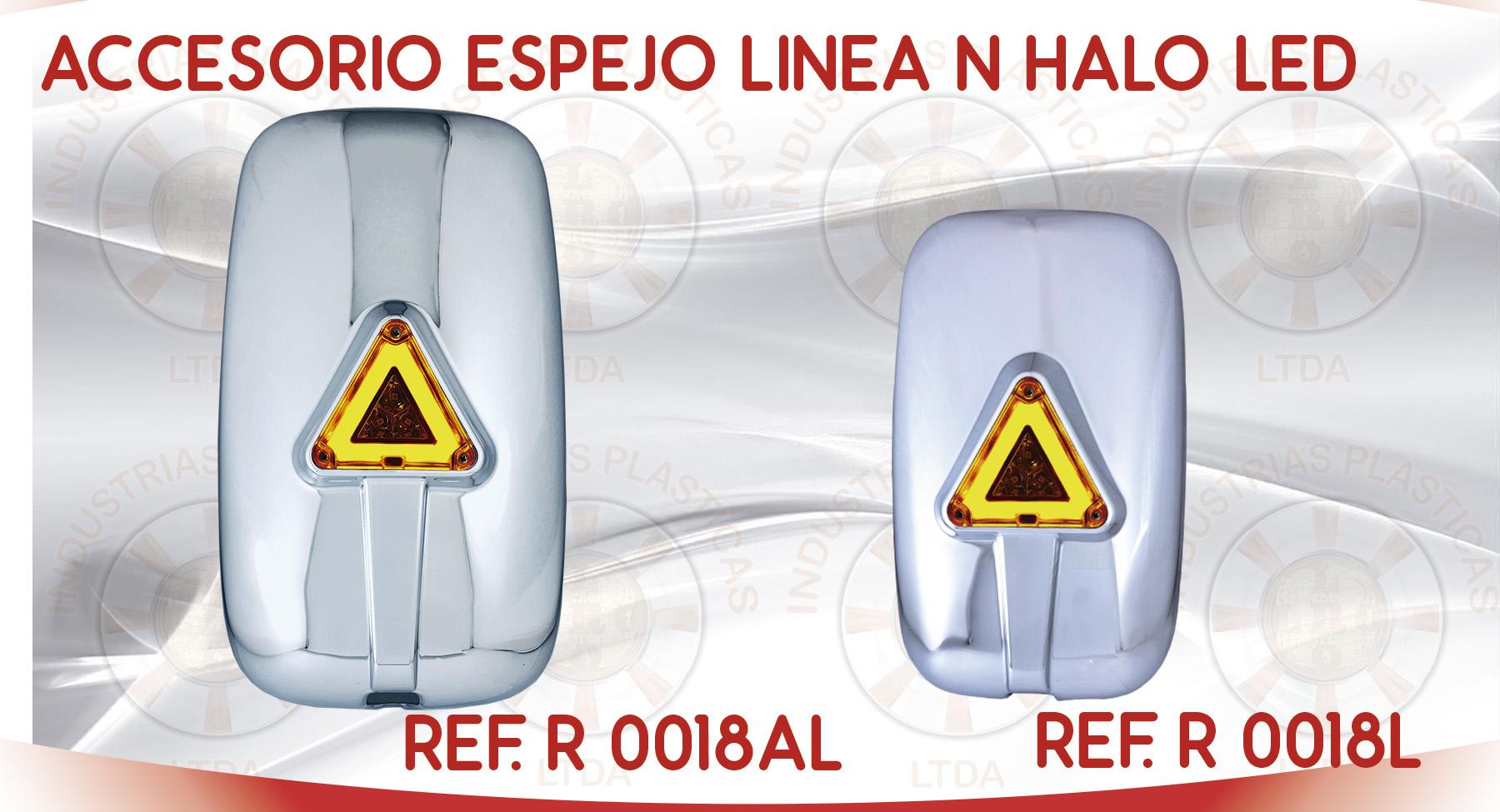 R 0018L ACCESORIO ESPEJO LINEA N HALO LED